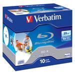Bluray Disk Wide Printable 25GB 6x In Jewel Case 10-pk
