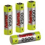 Rechargeable Batteries NiHH 4xAA (Mignon - HR 6) 2500mAh, 1.2V