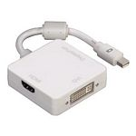 Adapter 3in1 for Mini Display Port on DVI, DisplayPort or HDMI