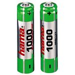 Rechargeable Battery NiMH 2xAAA, 1000mAh, 1.2V