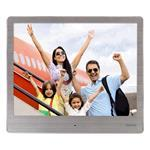 8SLB Digital Photo Frame, 20.32cm (8.0), Slim Steel, 1024 x 768px