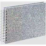 Glam Spiral Album, 24x17 cm, 50 white pages, silver