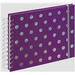 Twinkle Spiral Album, 24x17 cm, 50 White Pages, Purple