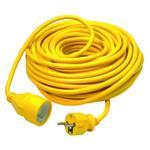 Power Extension Cable With Safety Plug 20m Yellow